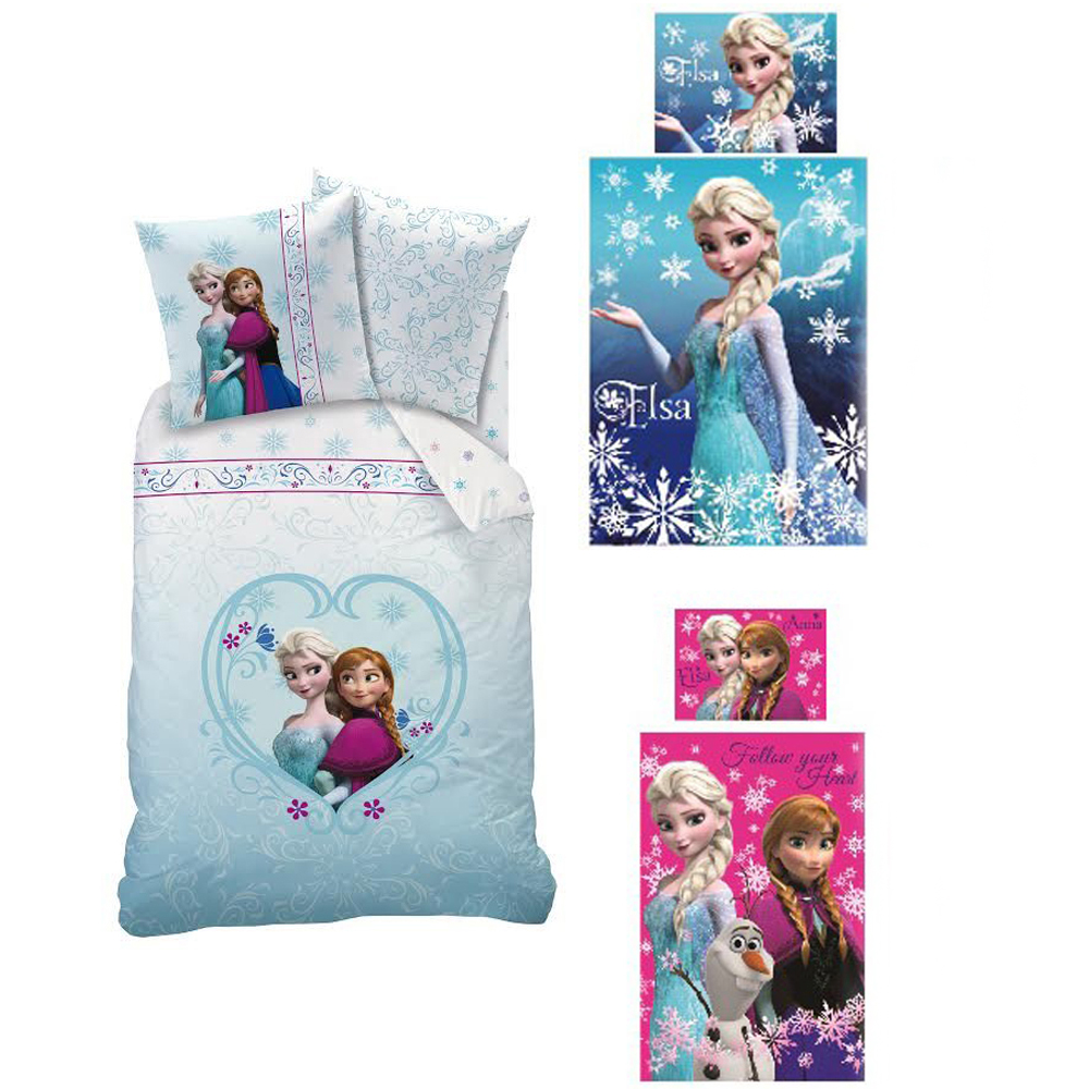 disney frozen bettw sche f r kinder in rosa und blau die eisk nigin bettw sche ebay. Black Bedroom Furniture Sets. Home Design Ideas