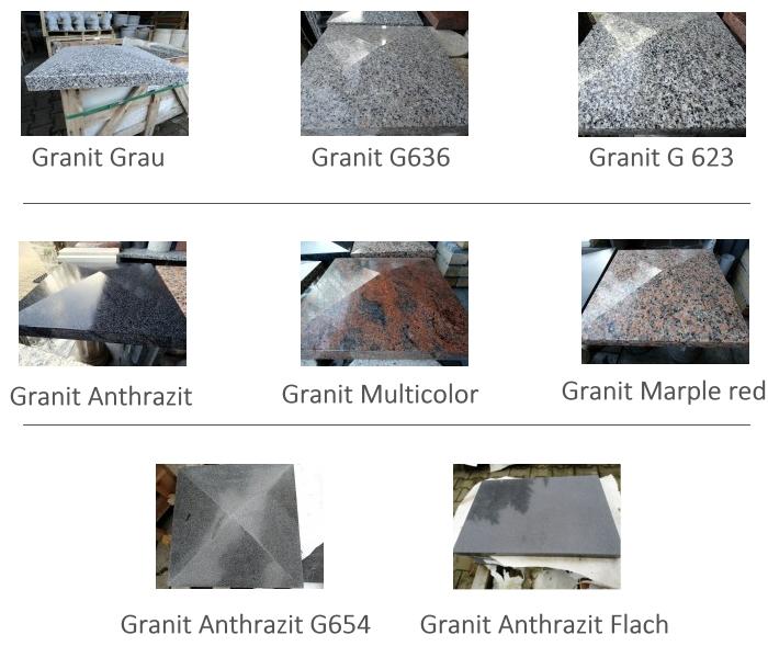 pfeilerabdeckung aus granit mit walm 44 x 44 x 4 8 cm abdeckung pfeiler poliert. Black Bedroom Furniture Sets. Home Design Ideas